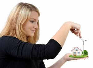 http://www.dreamstime.com/stock-photography-girl-holding-hands-wind-turbine-house-isolated-white-image30414582
