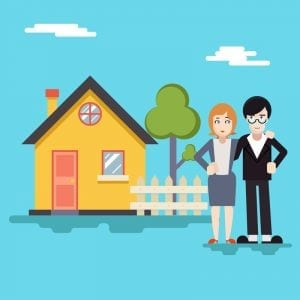 http://www.dreamstime.com/royalty-free-stock-image-retro-happy-family-house-real-estate-modern-flat-design-concept-template-vector-illustration-image44591006