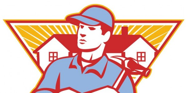 http://www.dreamstime.com/royalty-free-stock-photos-builder-construction-worker-hammer-house-illustration-arms-crossed-background-set-inside-triangle-done-retro-image30952538